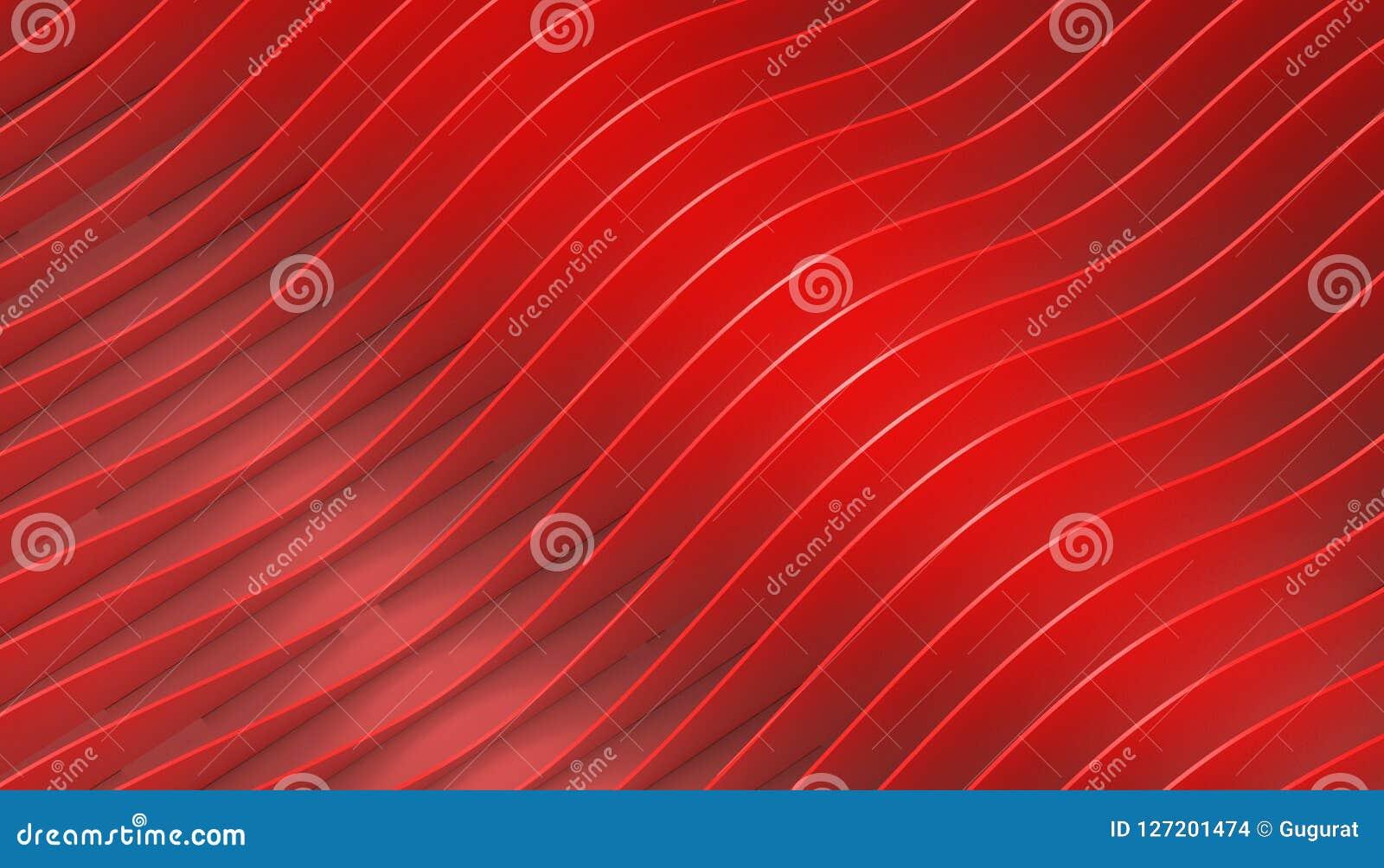 Parametrisk arkitektur för abstrakt geometrisk röd kurva på bakgrund