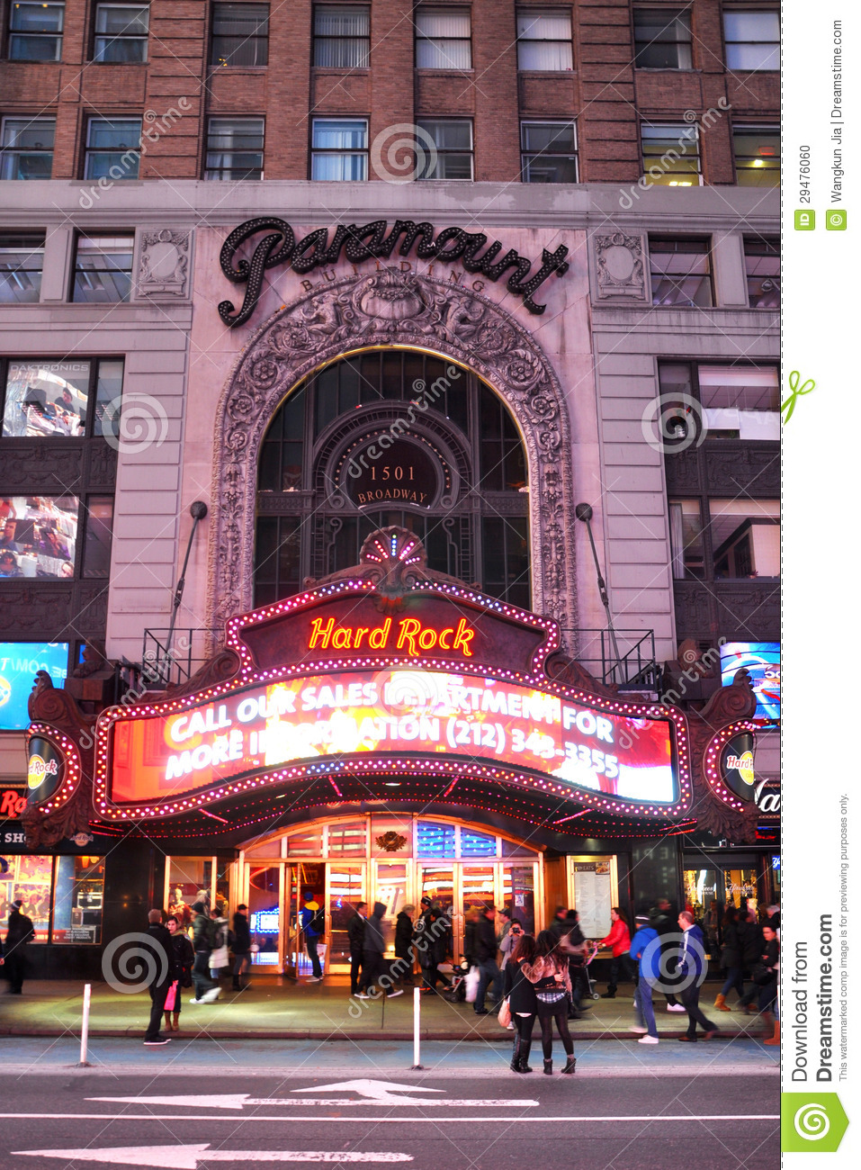 Paramount Theatre, Times Square, Manhattan, NYC Editorial