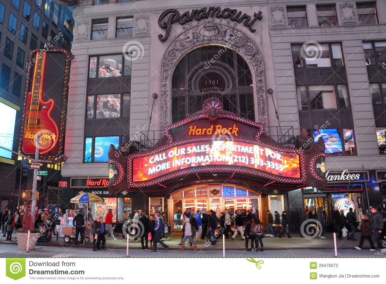 paramount theatre times square manhattan nyc editorial