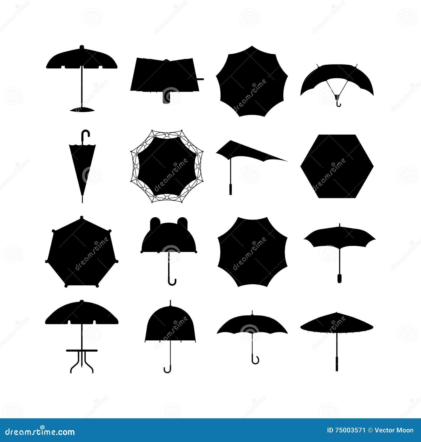 Paraplu vectorillustratie