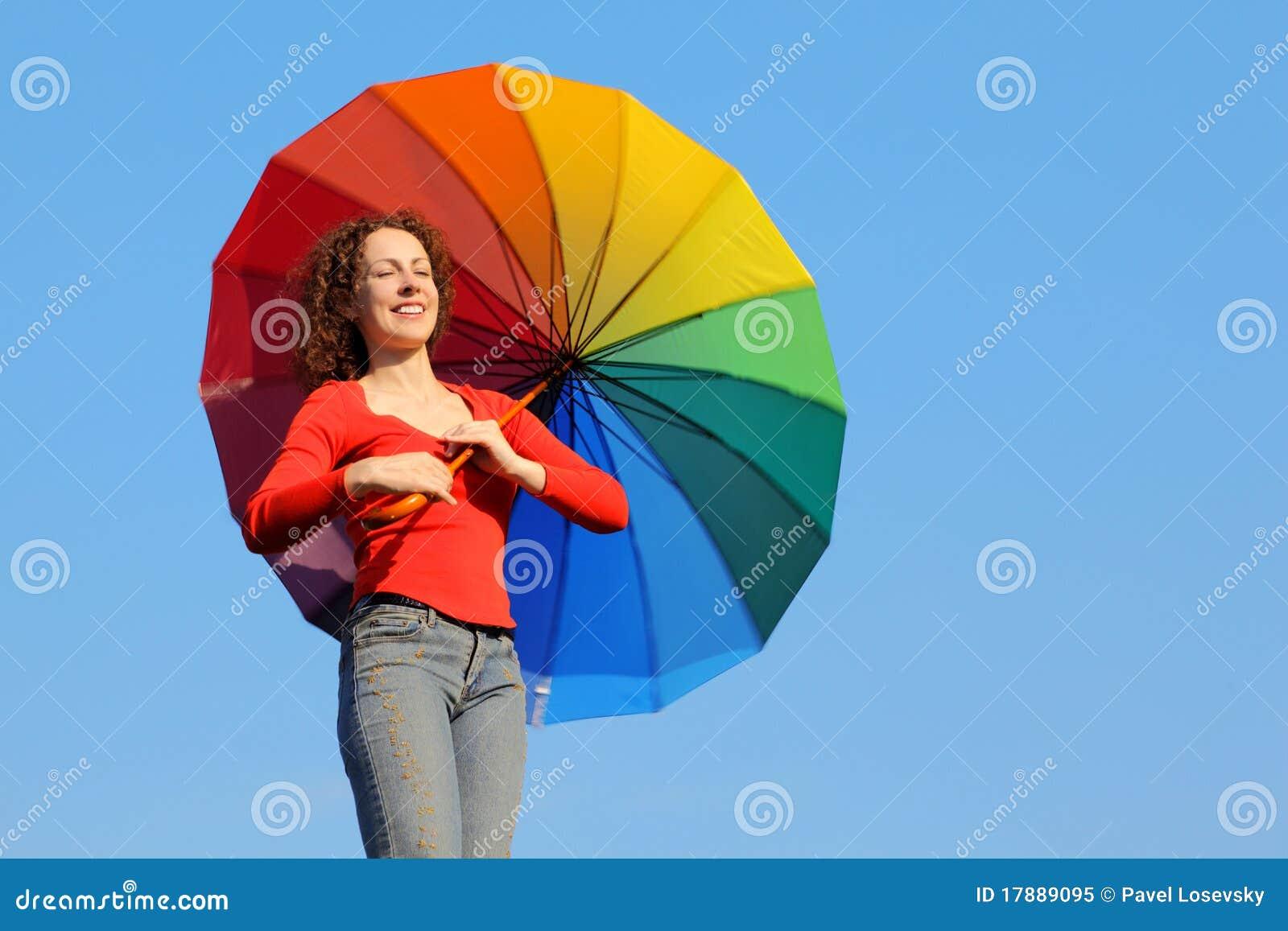 parapluie color par fixation de fille - Parapluie Color