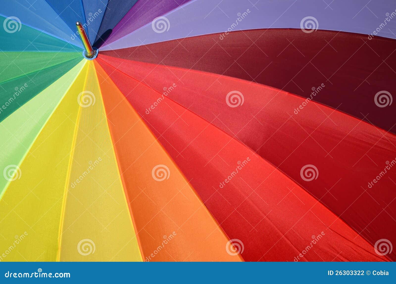 Parapluie Darc En Ciel Comme Cercle Chromatique Photo Stock Image