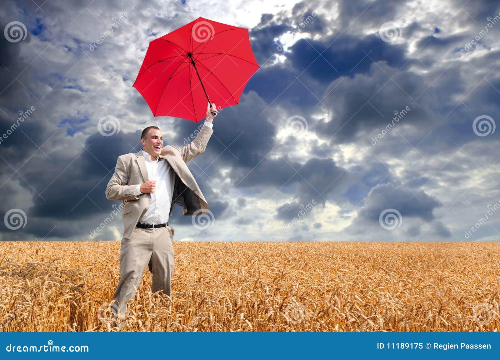 Parapluie d homme d affaires