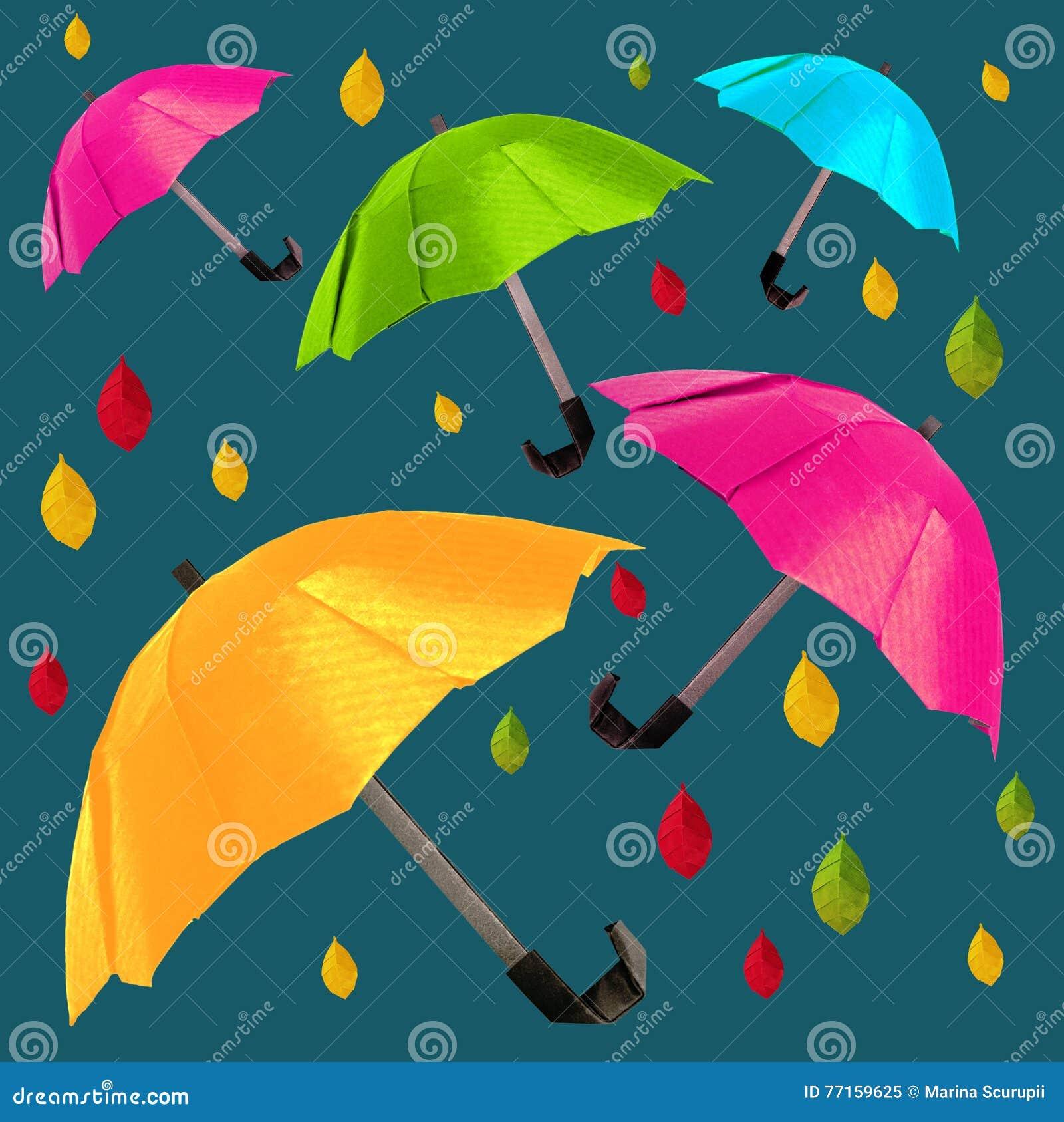 Parapluie de rouge d origami