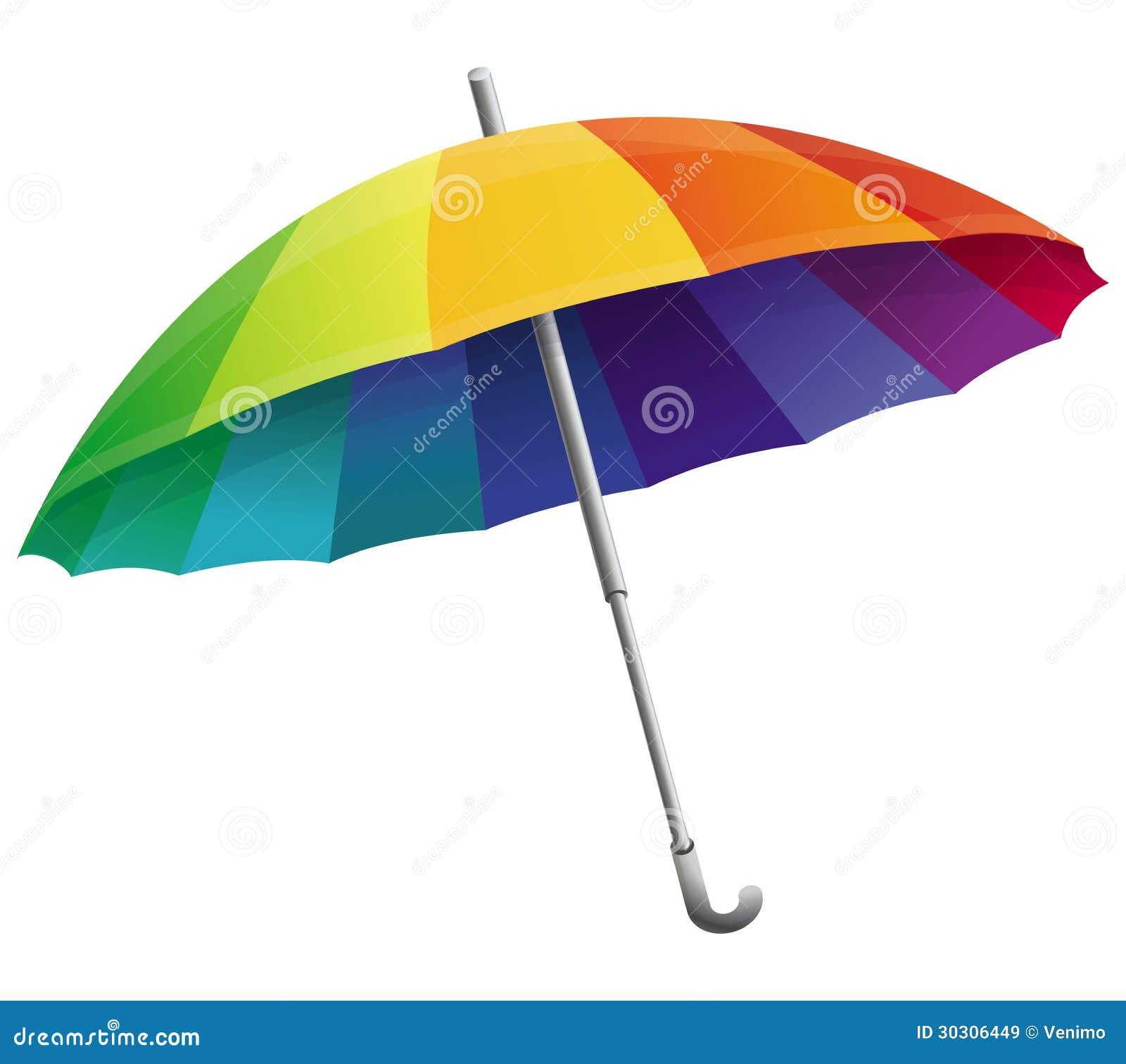 Parapluie de vecteur dans des couleurs d 39 arc en ciel - Parapluie dessin ...