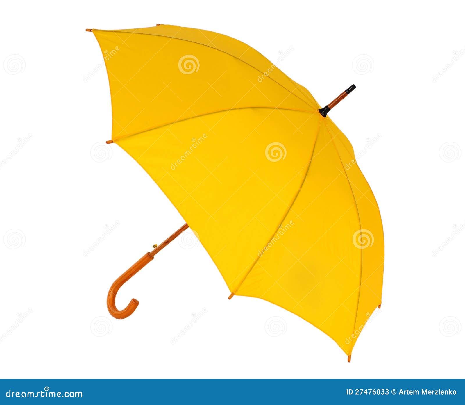 parapluie jaune sur un fond blanc image stock image 27476033