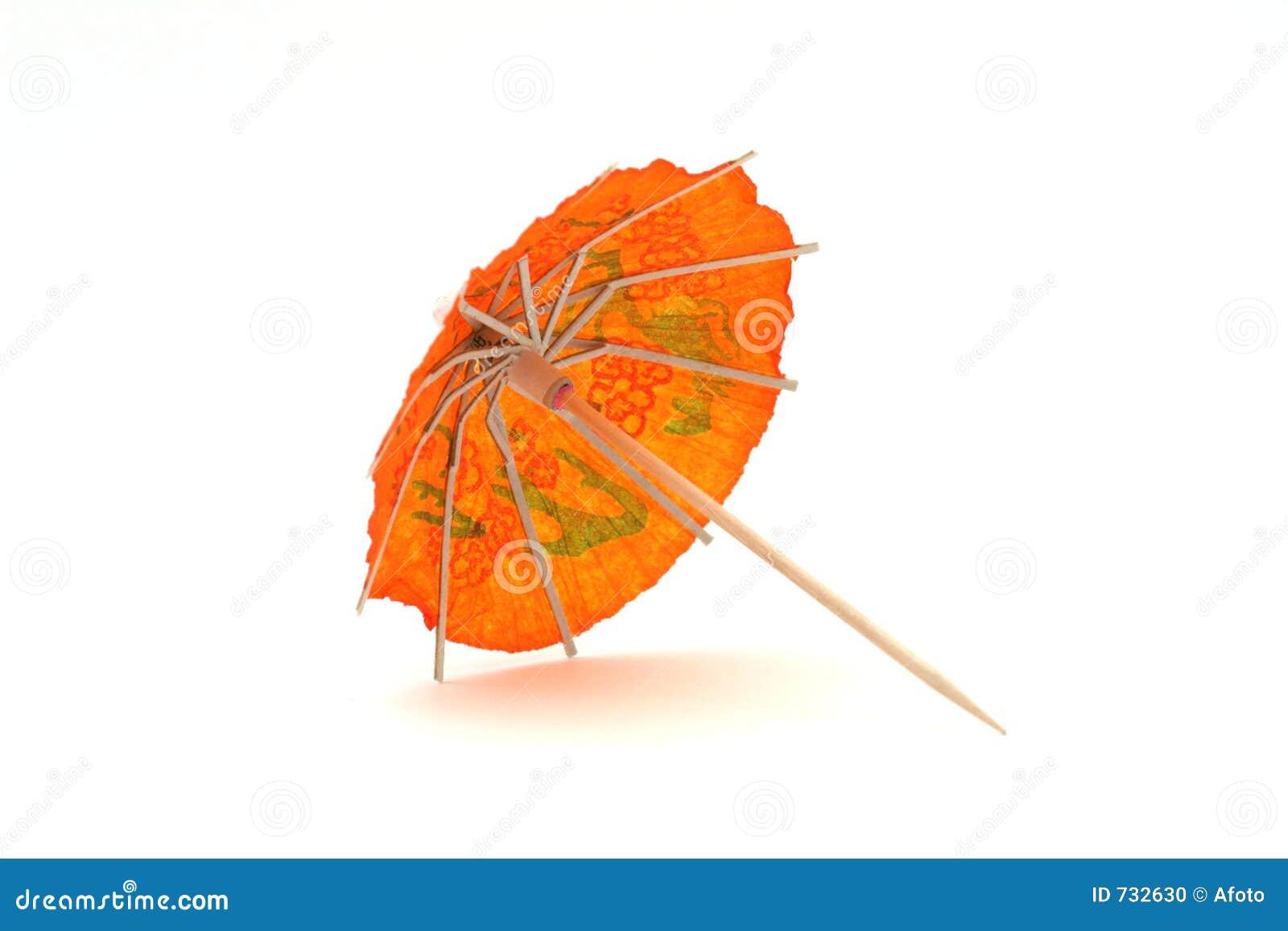 Parapluie orange #2 de cocktail