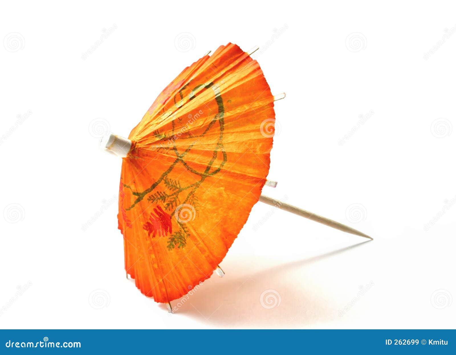Parapluie orange de cocktail