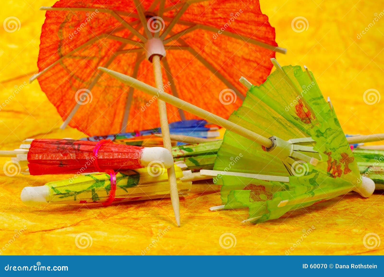 Download Parapluies de cocktail photo stock. Image du couleur, coloré - 60070