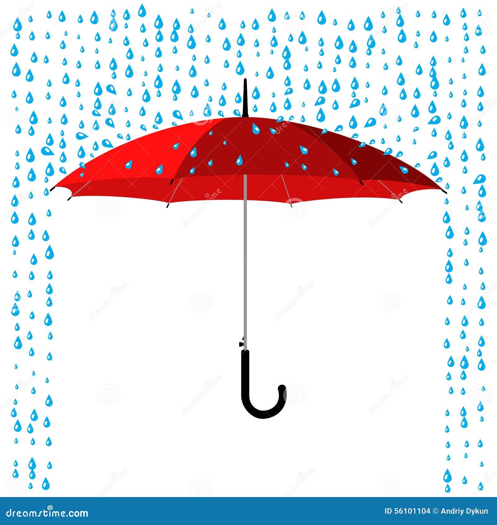 Paraplyet regnar under