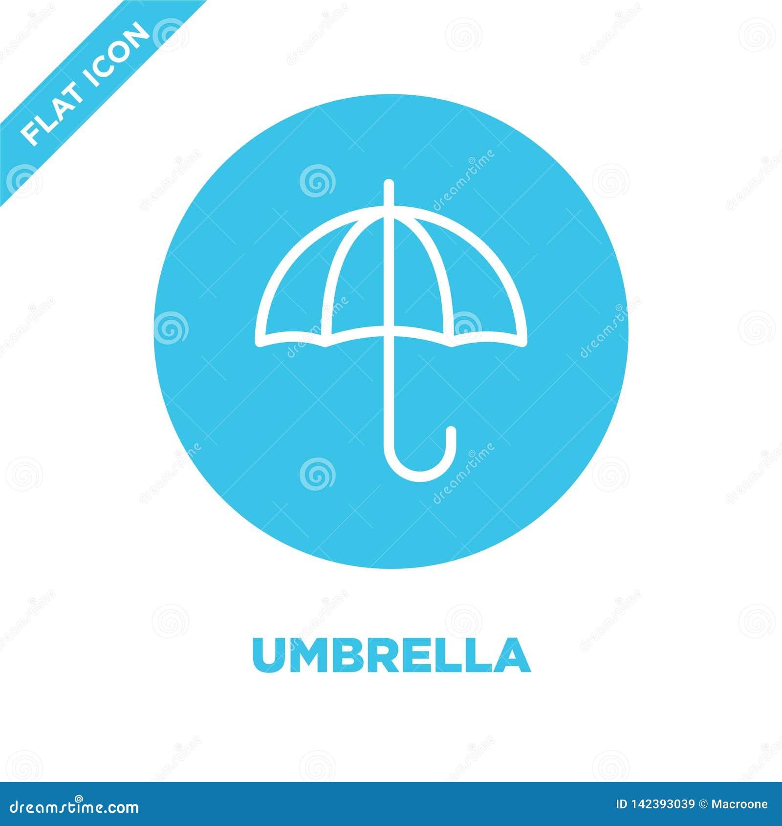 Paraplysymbolsvektor från säsongsamling Tunn linje illustration för vektor för paraplyöversiktssymbol Linjärt symbol för bruk på
