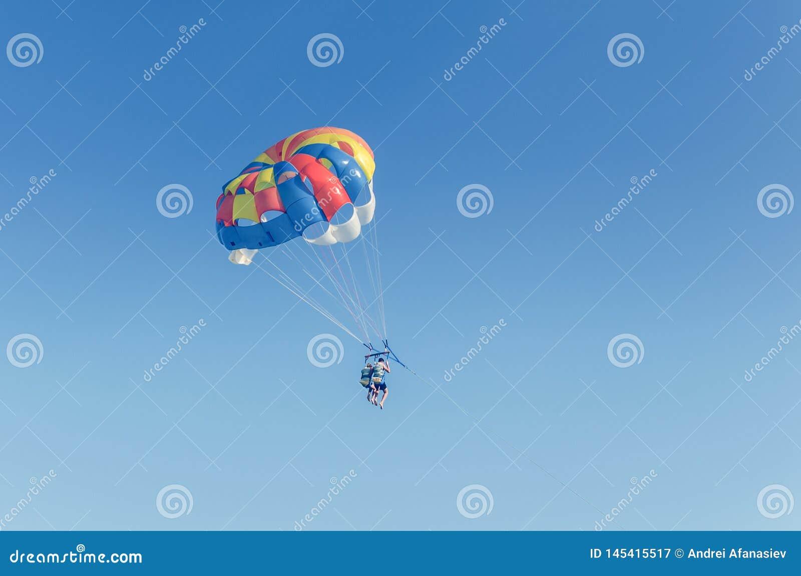 Parasailing parachute Free Flyin — Stock Photo © oqba