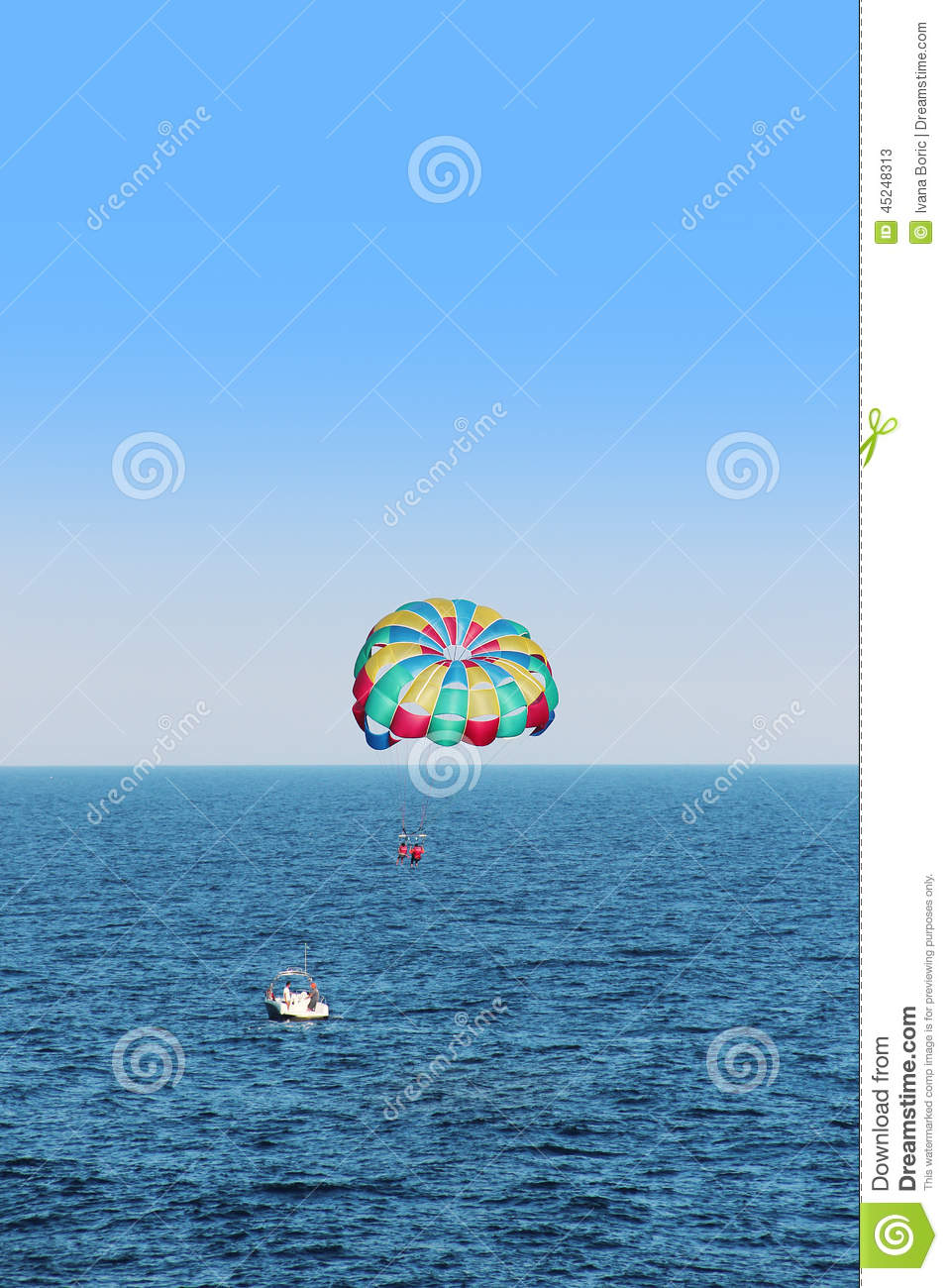 Parasailing Is An Extreme Sport, People Fly By Parachute