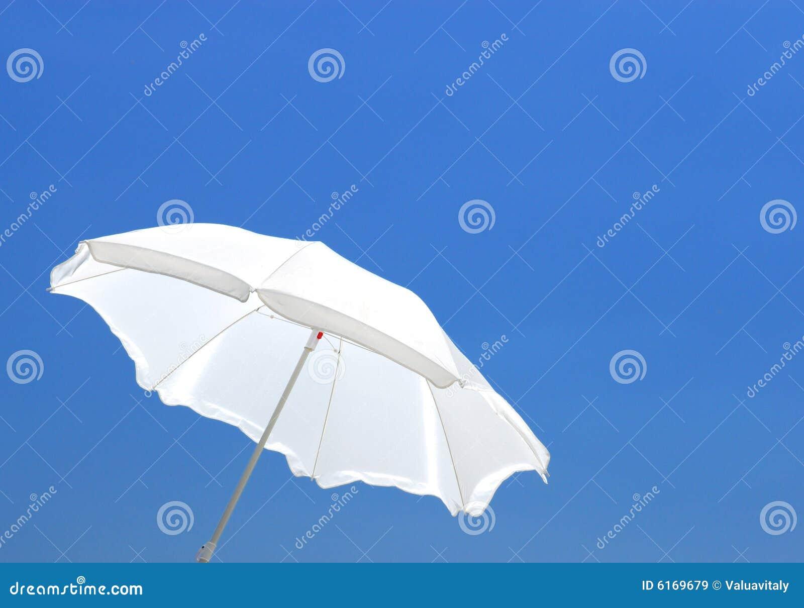 parasol blanc images libres de droits image 6169679. Black Bedroom Furniture Sets. Home Design Ideas