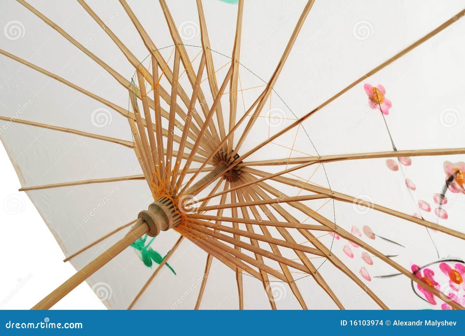 Parasol chinois. photo stock. Image du soie, bambou, parasol