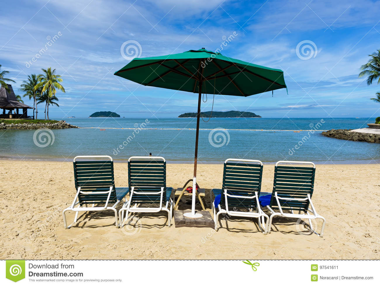 Brilliant Parasol And Lounge Chairs Stock Image Image Of Bliss 97541611 Pdpeps Interior Chair Design Pdpepsorg