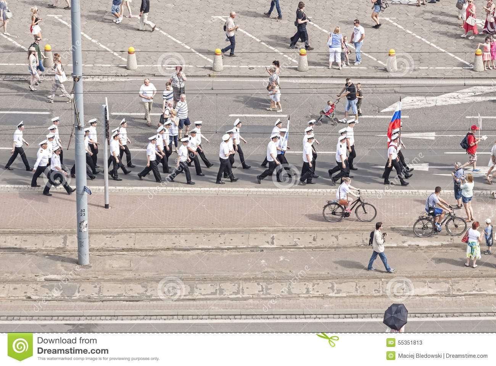 Parata della squadra di nave di navigazione di Sedov