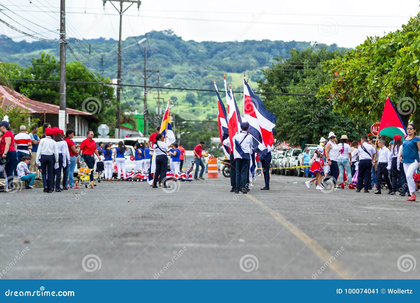 Parata di festa dell indipendenza, Costa Rica