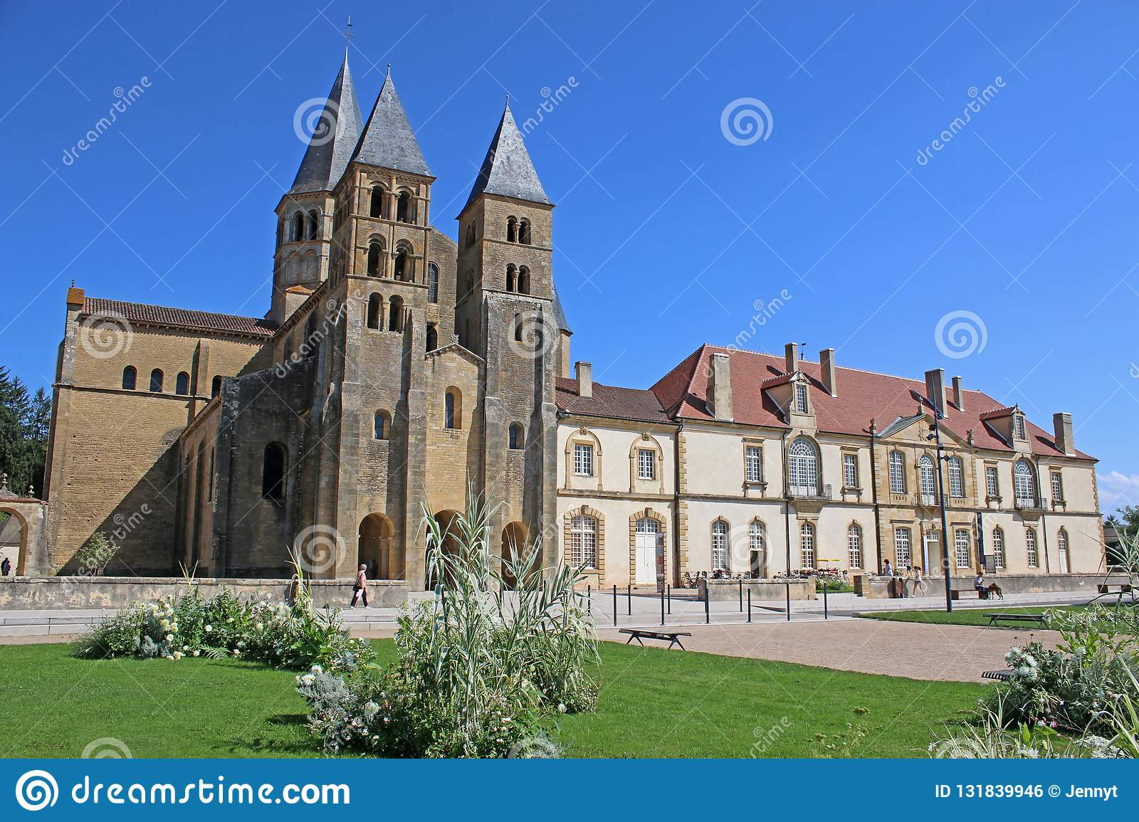Architecte Paray Le Monial paray le monial sanctuaries, france stock photo - image of