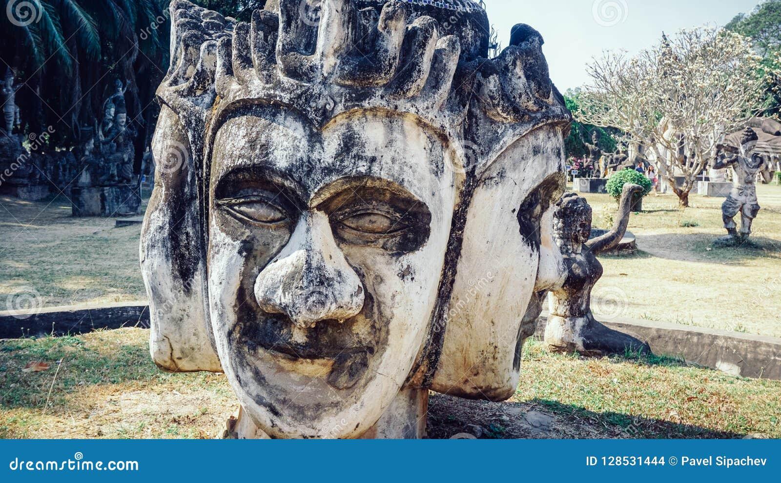 Parc de Bouddha en capitale du Laos - Vientiane