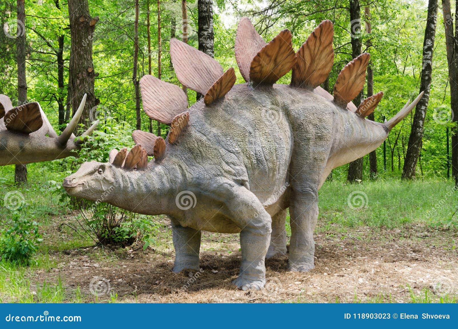 Parc de dinosaure, dinosaure Stegosaurus modèle