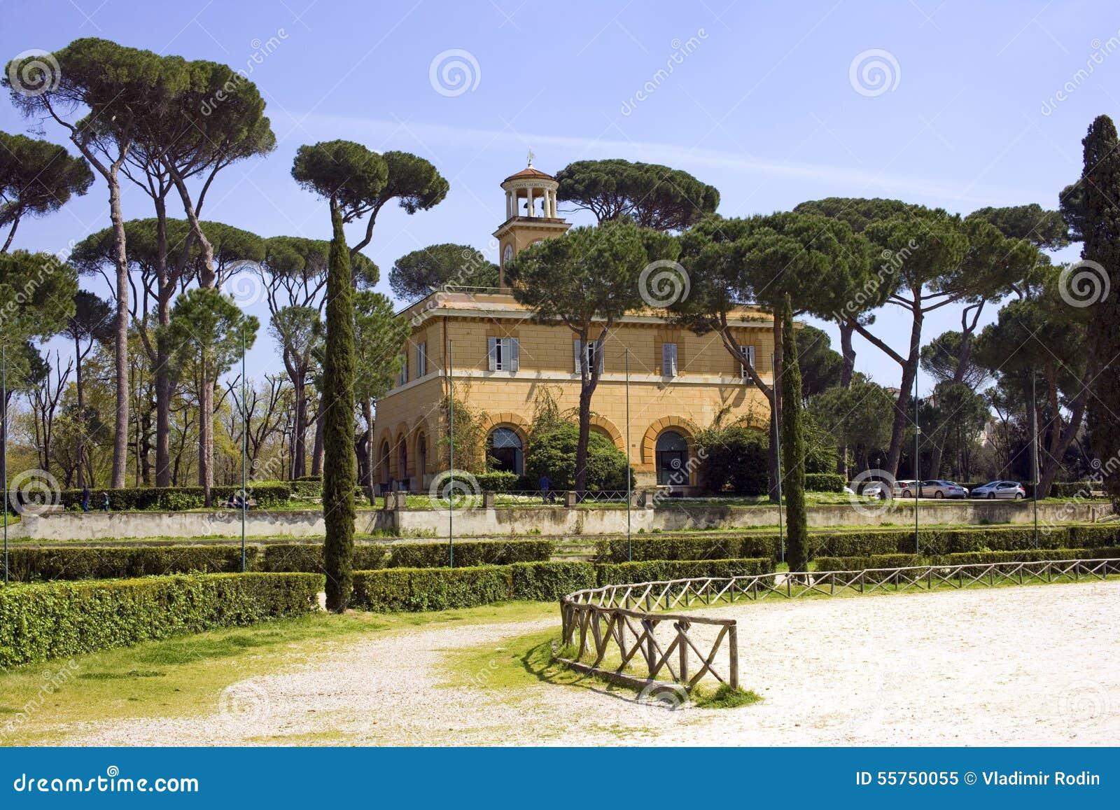 Parc de paysage de borghese rome de villa la colline de for Baraque jardin