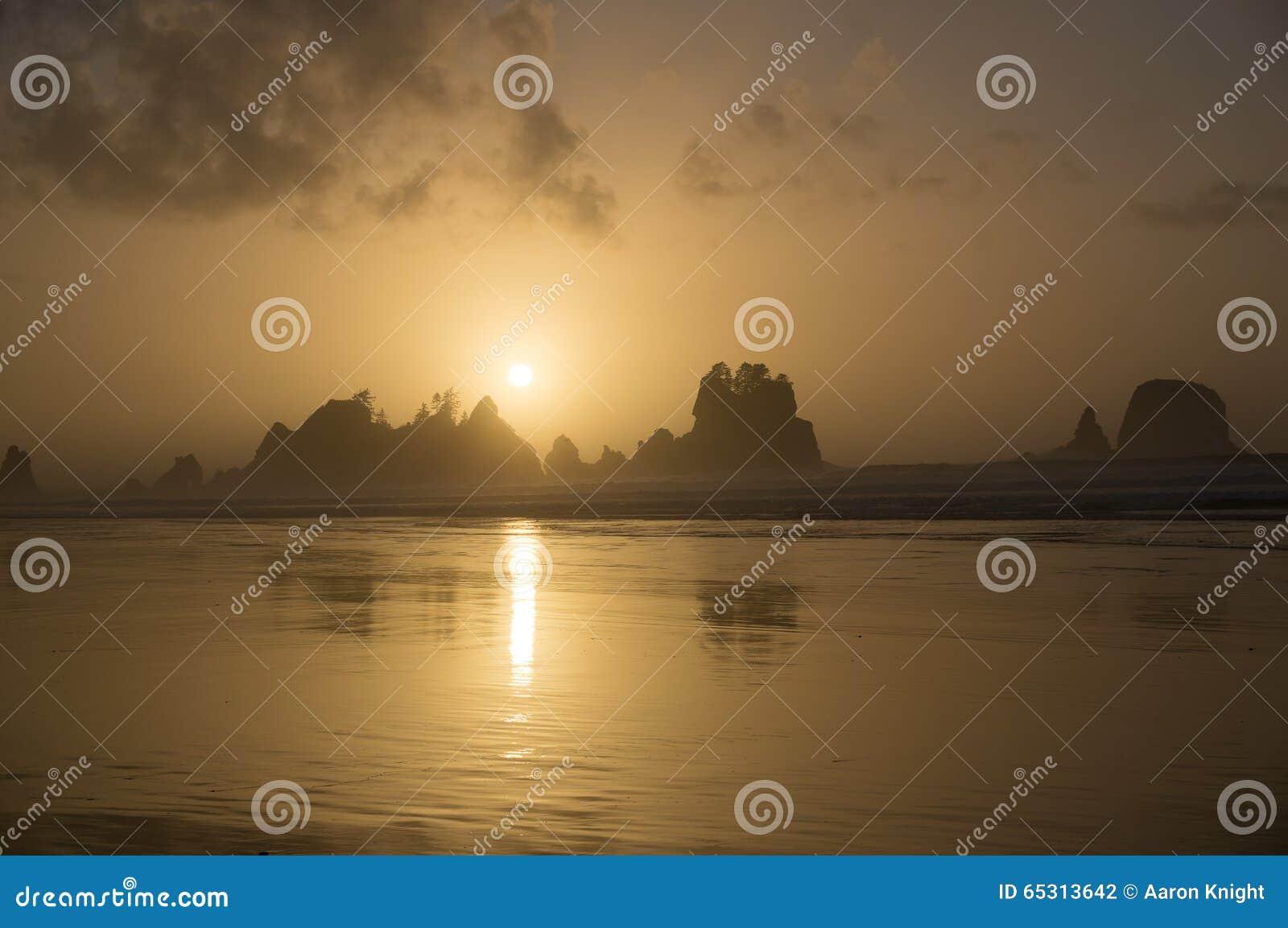 Parc de Shi Shi Beach Sunset Olympic National