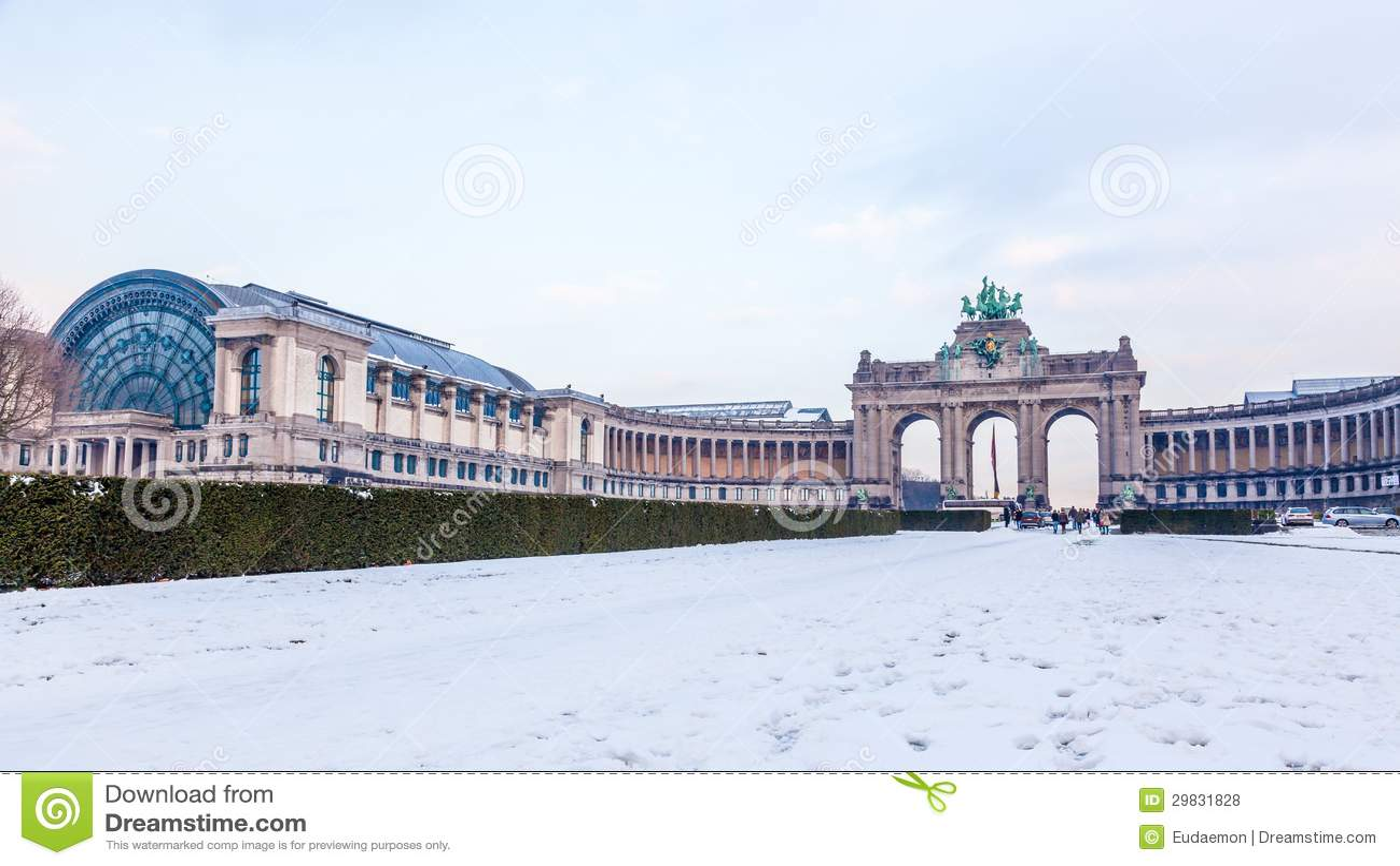 Parque de Cinquantenaire ou de Jubel em Bruxelas, Bélgica.