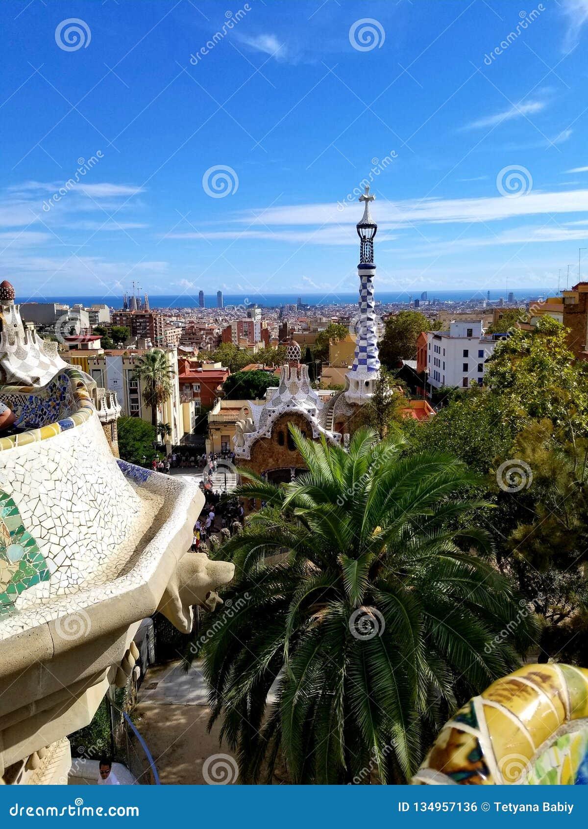 Parc Guell Barcelone - vues renversantes !