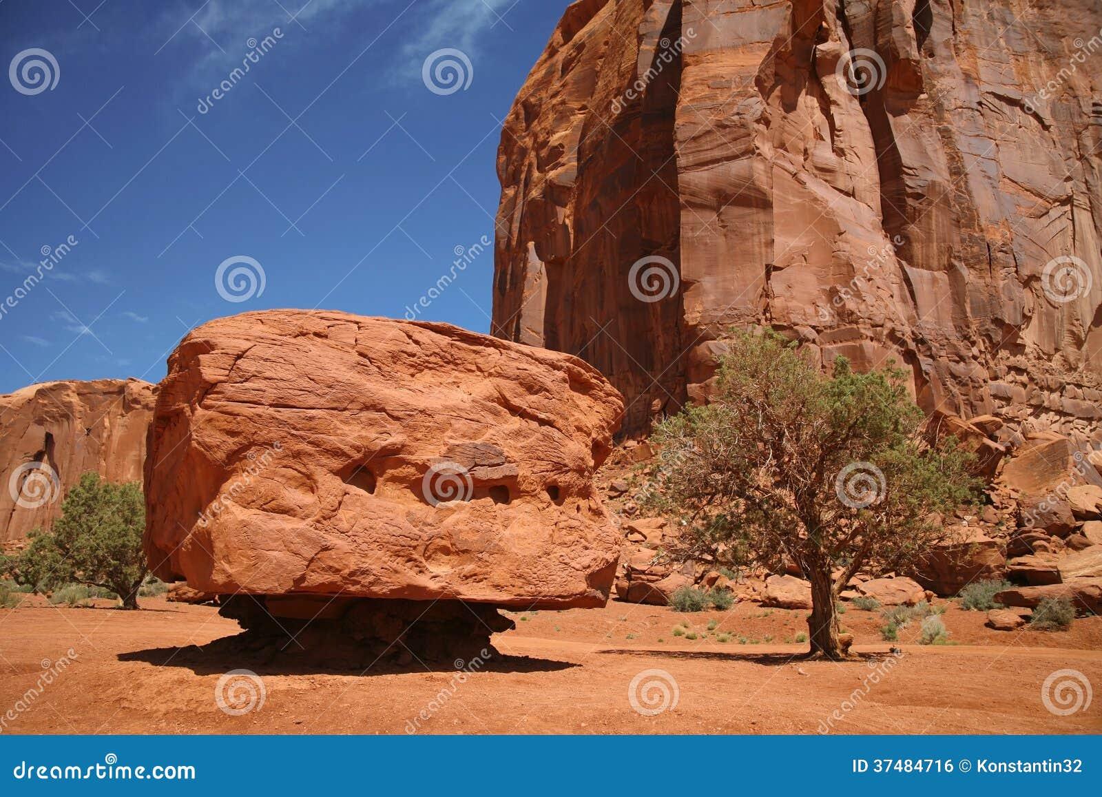 Parc national de vallée de monument, désert en Utah, Etats-Unis