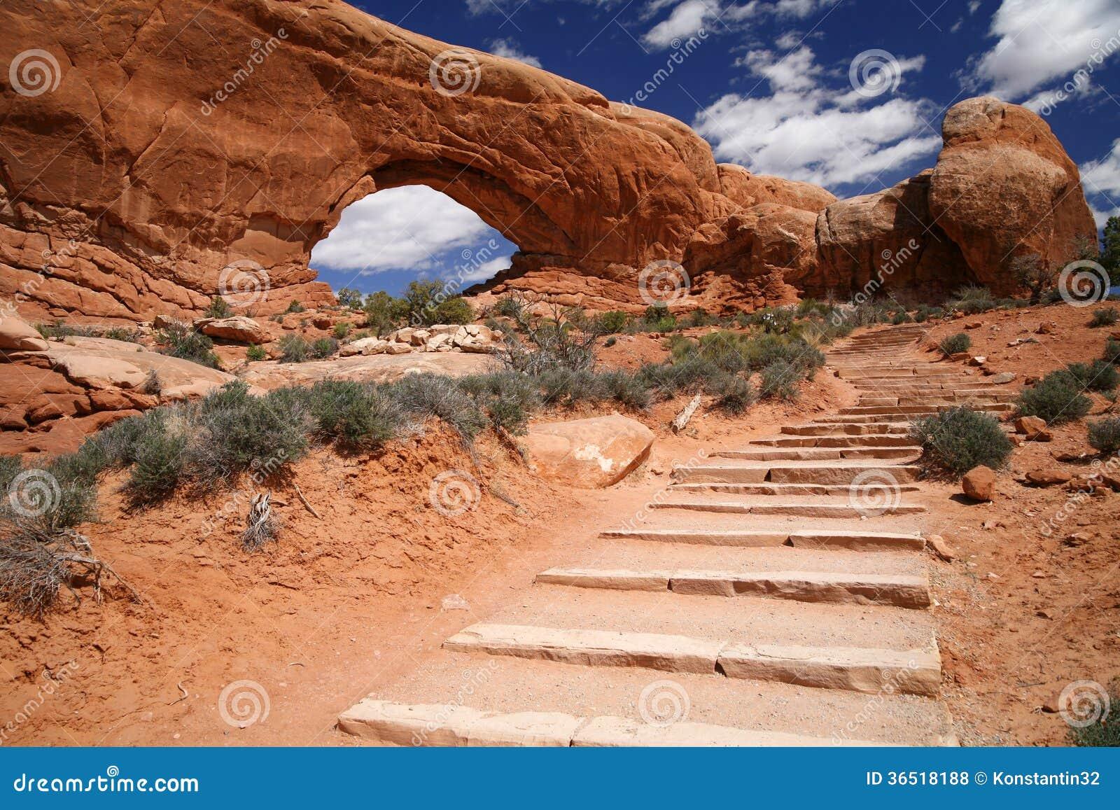 Parc national de voûtes près de Moab