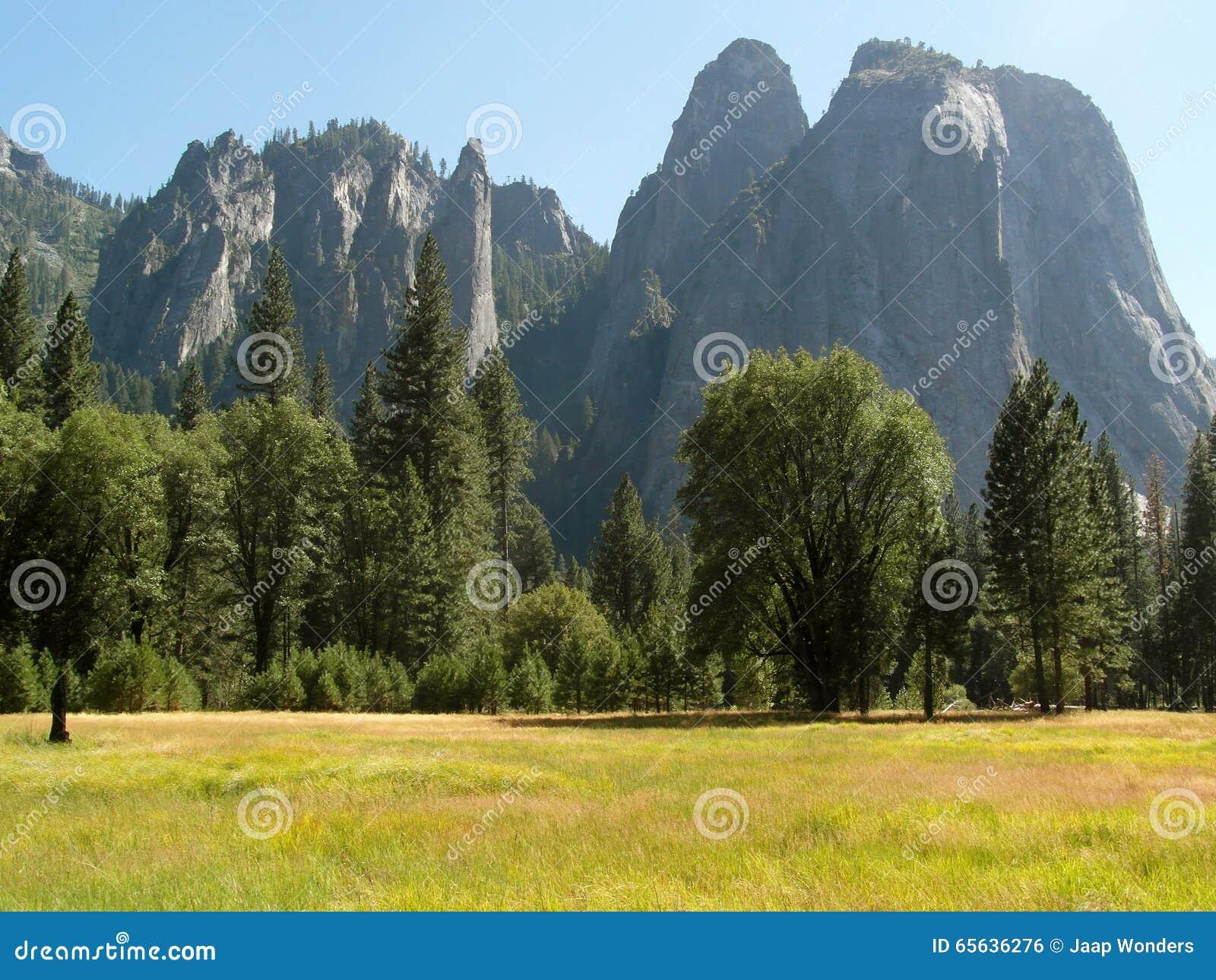 Parc national de Yosemite de falaises de granit de pré