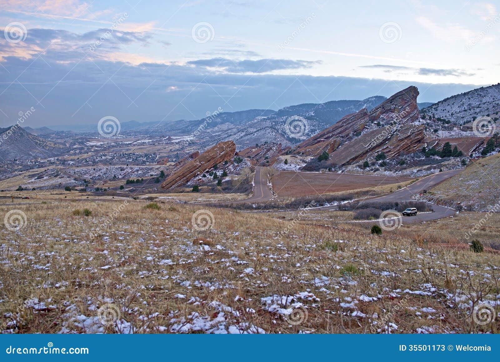 Parc rouge le Colorado de roches