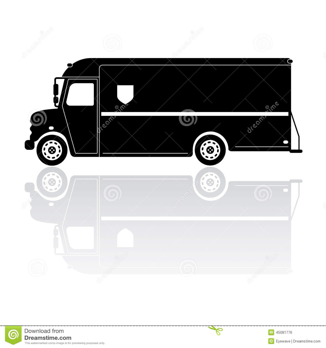 Parcel Delivery Van Silhouette Vector Icon Stock Vector ...