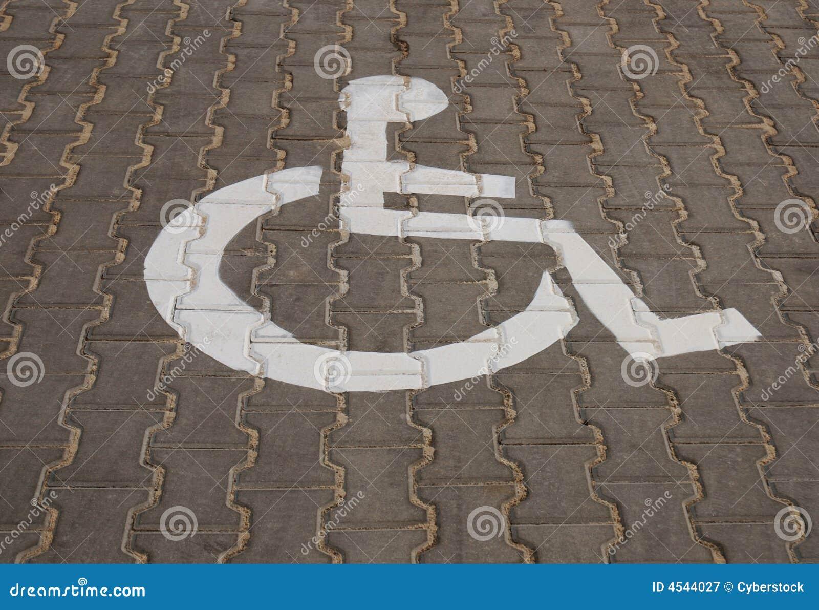 Parcheggiando per gli handicappati