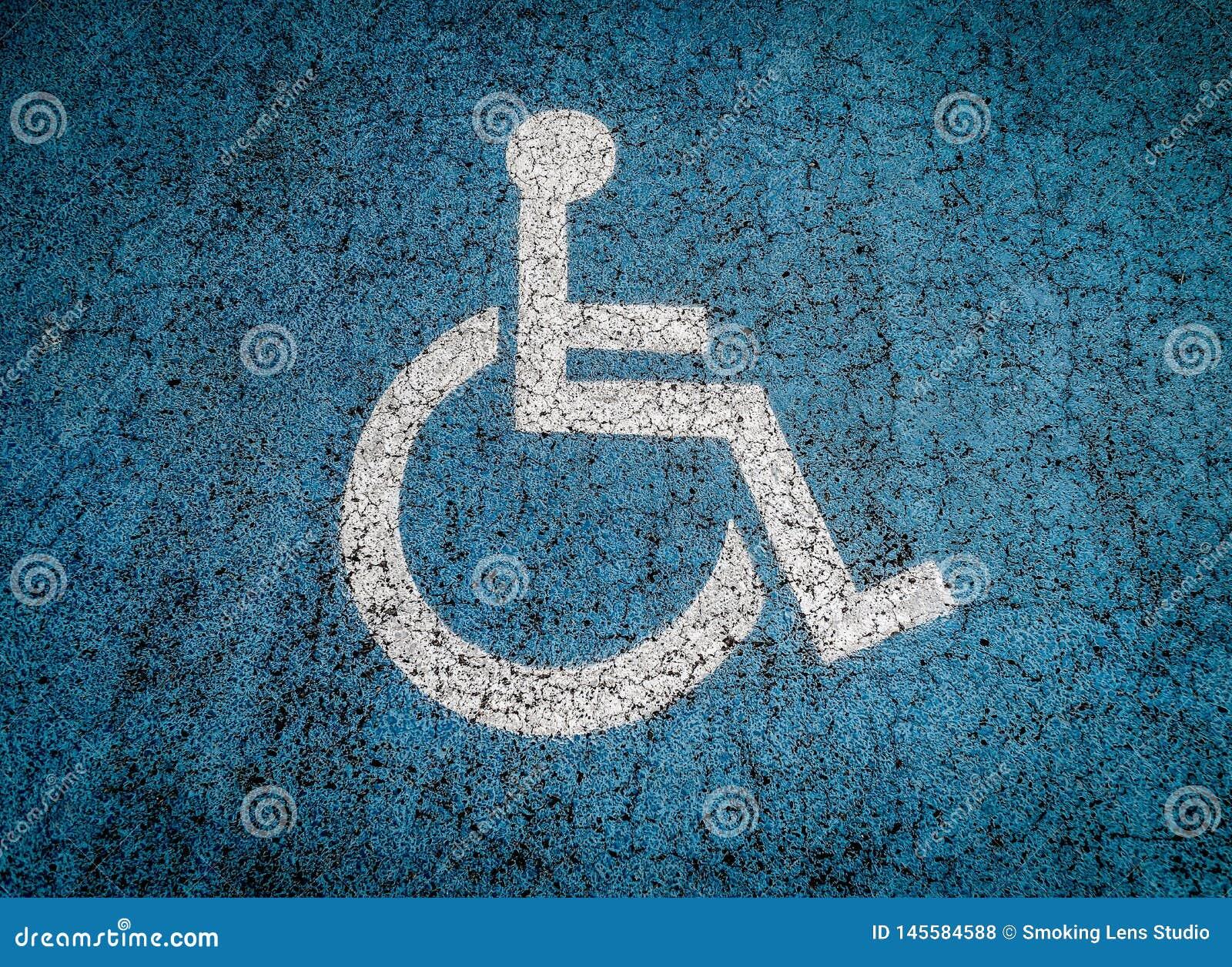 Parcheggio disabile all aperto