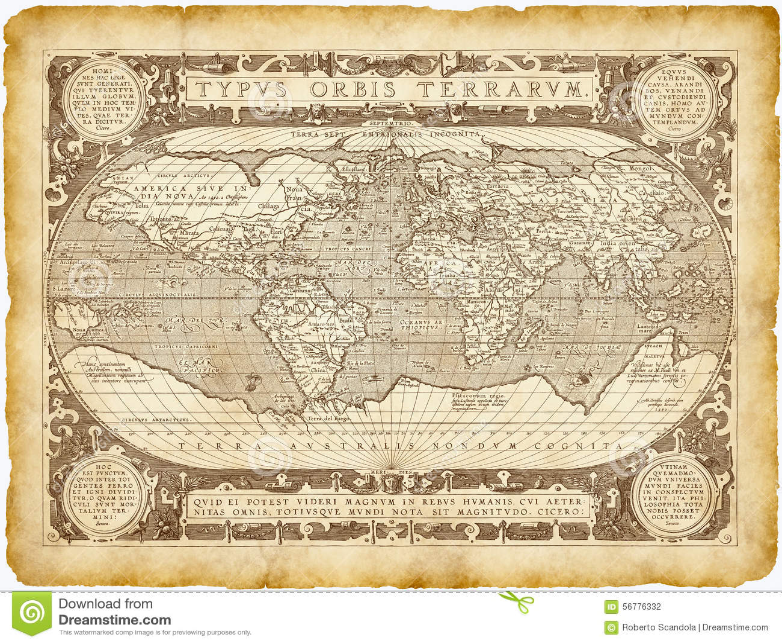 Carte Du Monde Parchemin parchemin historique de carte du monde photo stock - image du