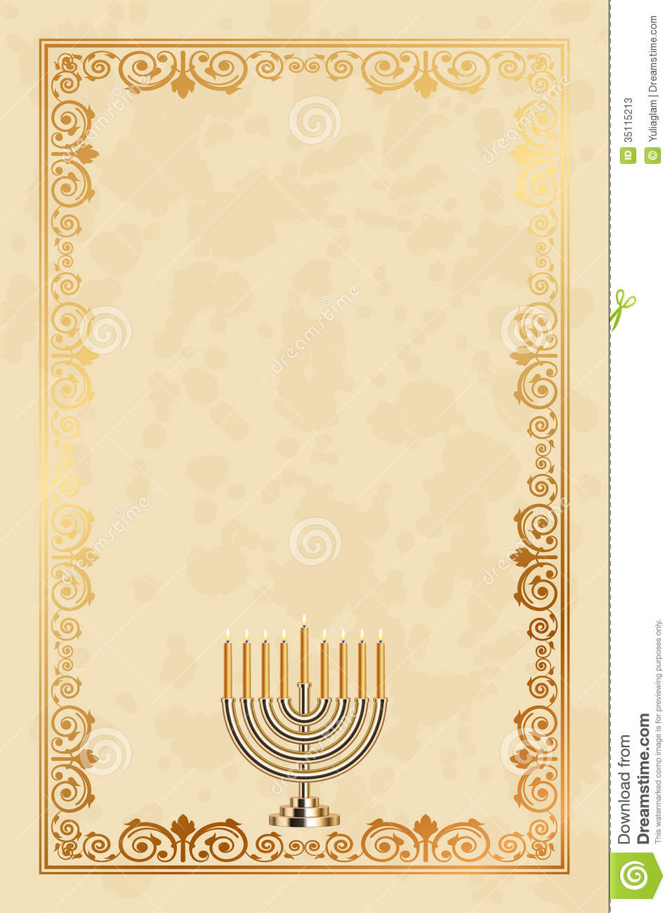 Dreidel Border Stock Photos - Image: 1591873