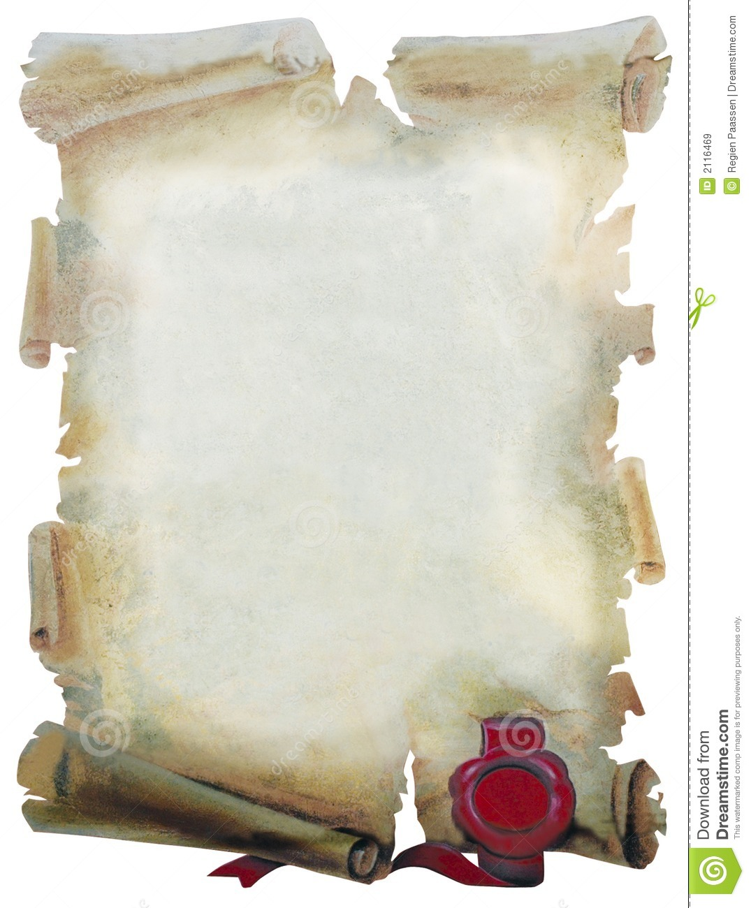 parchment paper stock illustration  image of cutout