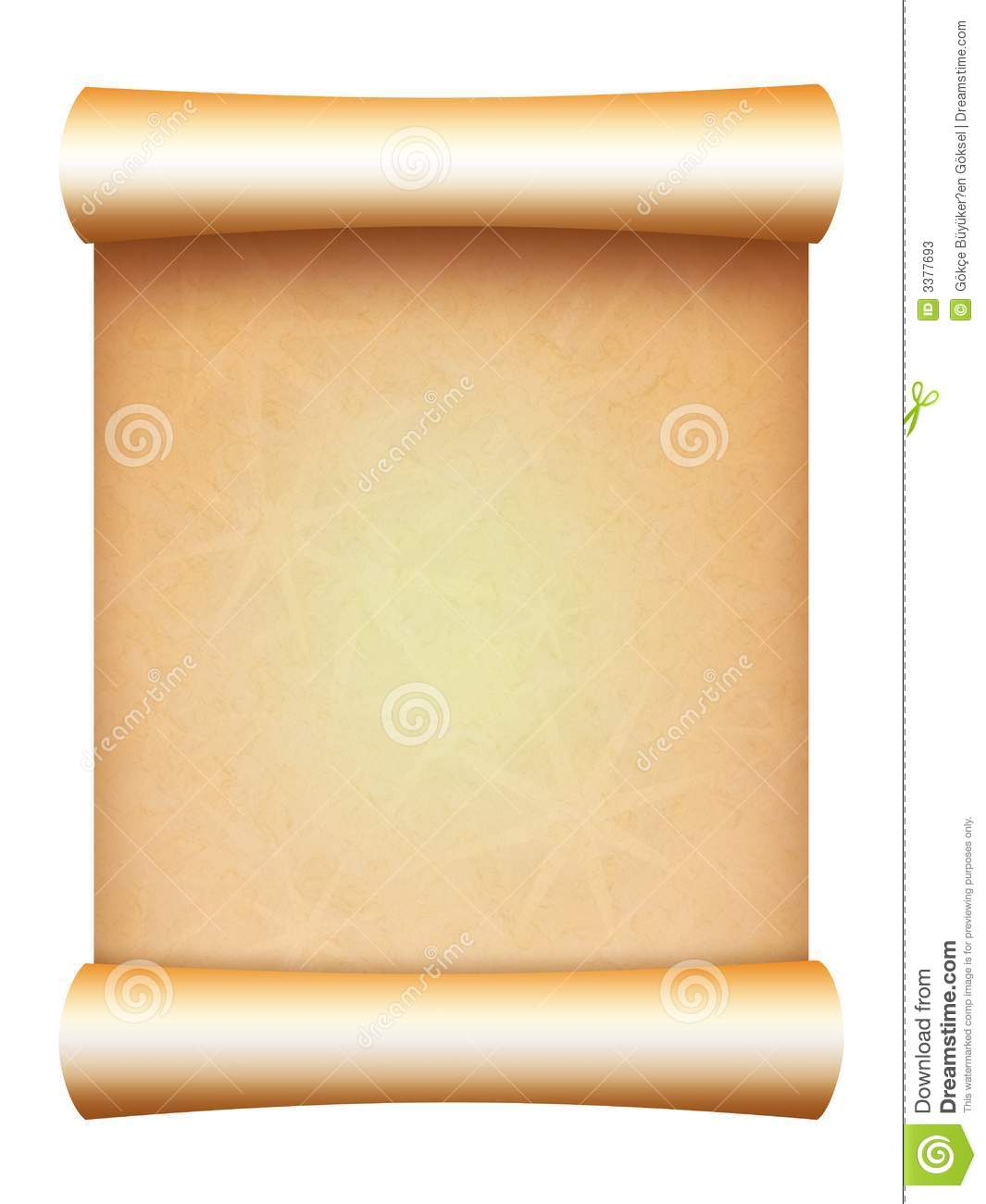 parchment paper scroll stock illustration illustration of worn
