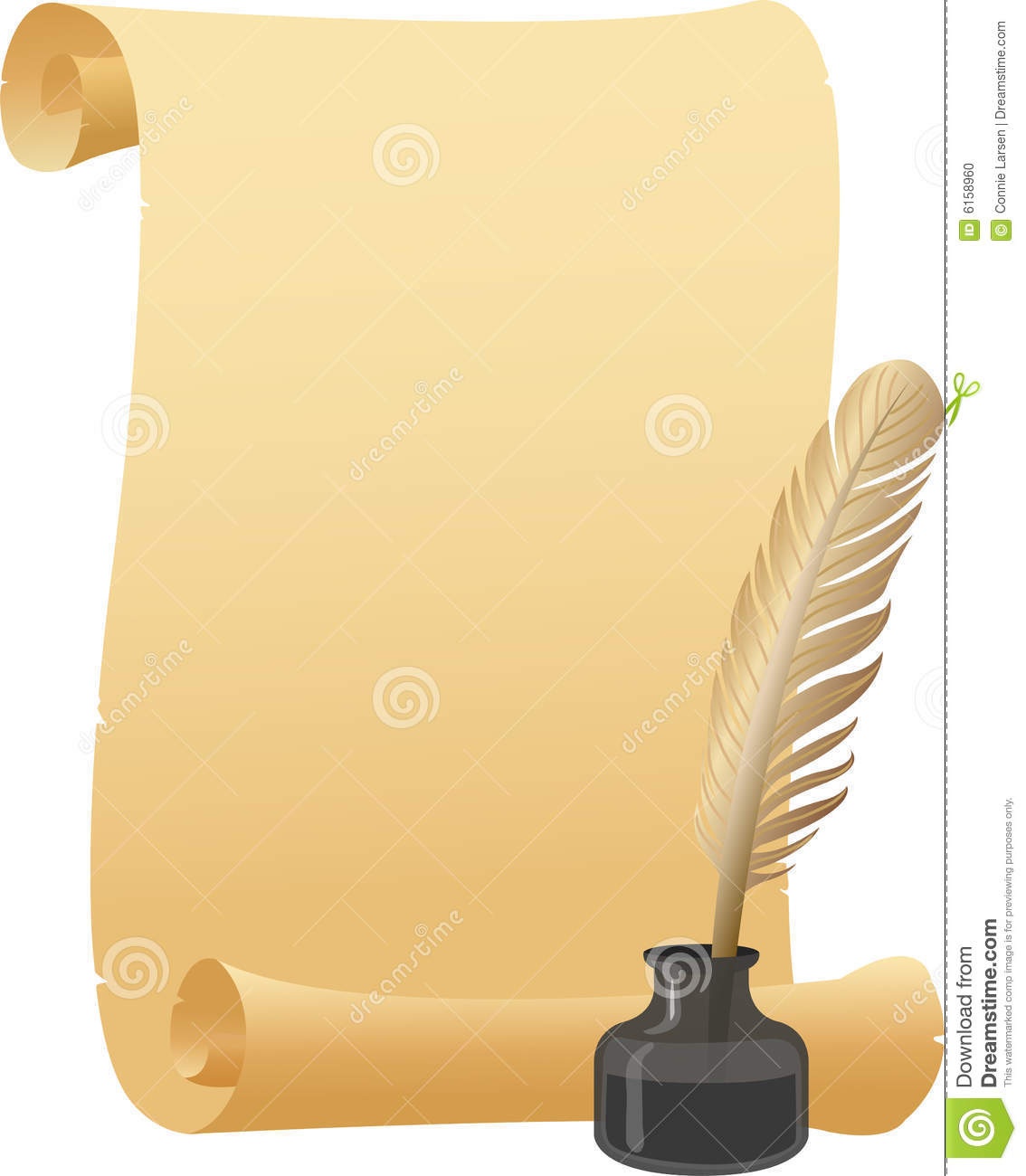 quill and parchment clipart - photo #15