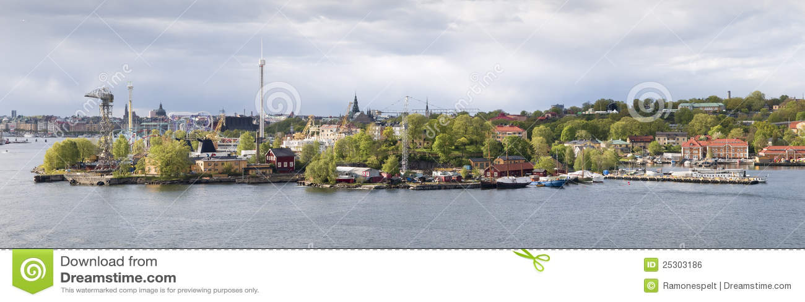 Parco di divertimenti Grona Lund, Stoccolma di vista