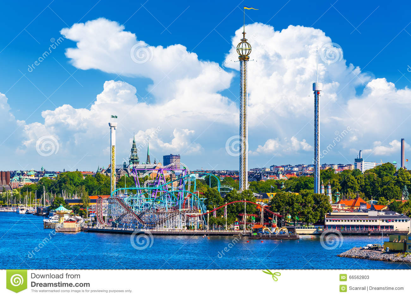 Parco di divertimenti Grona Lund sull isola di Djurgarden a Stoccolma, Swe