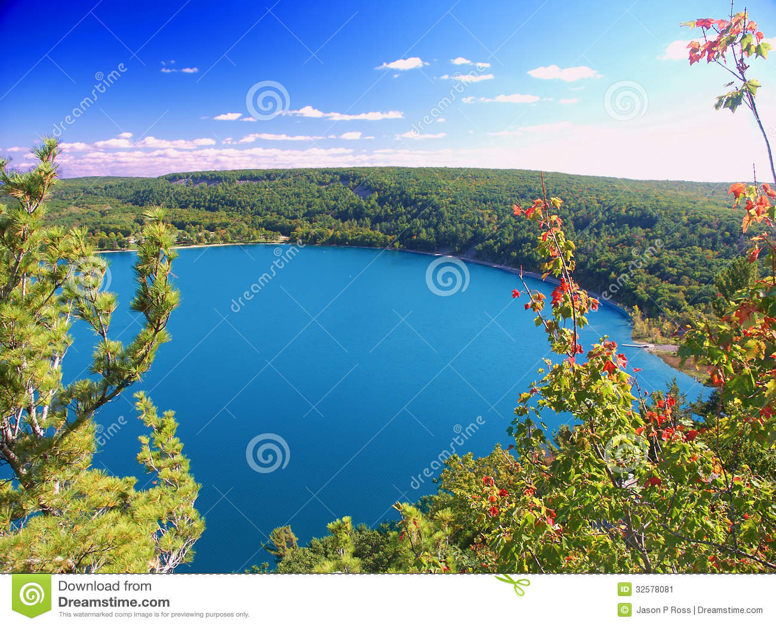 Parco di stato del lago devils Wisconsin