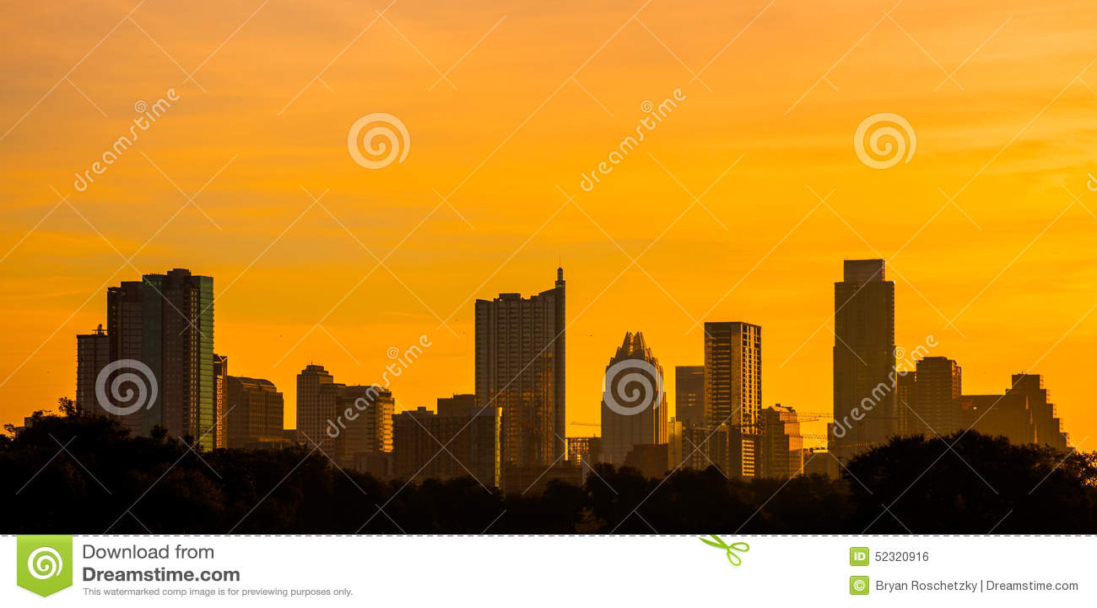 Parco dorato dello zilker dell orizzonte di Austin il Texas