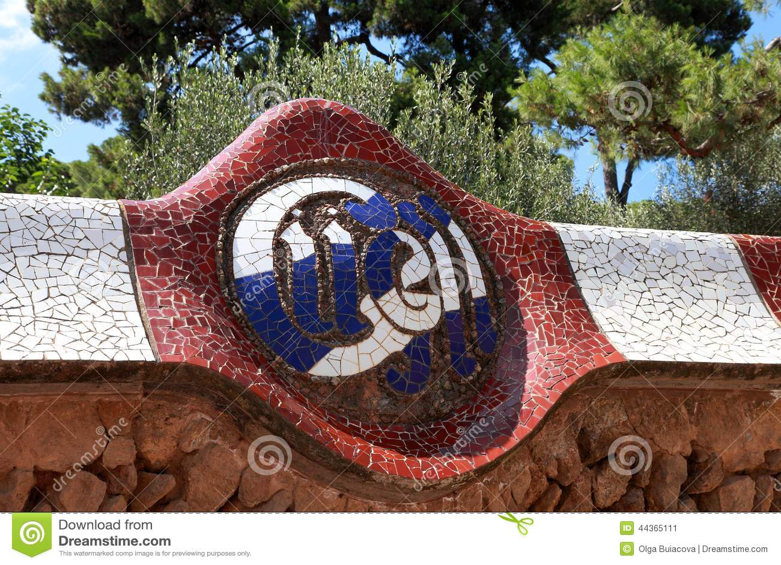 Parco Guell da Antoni Gaudi, Barcellona, Spagna