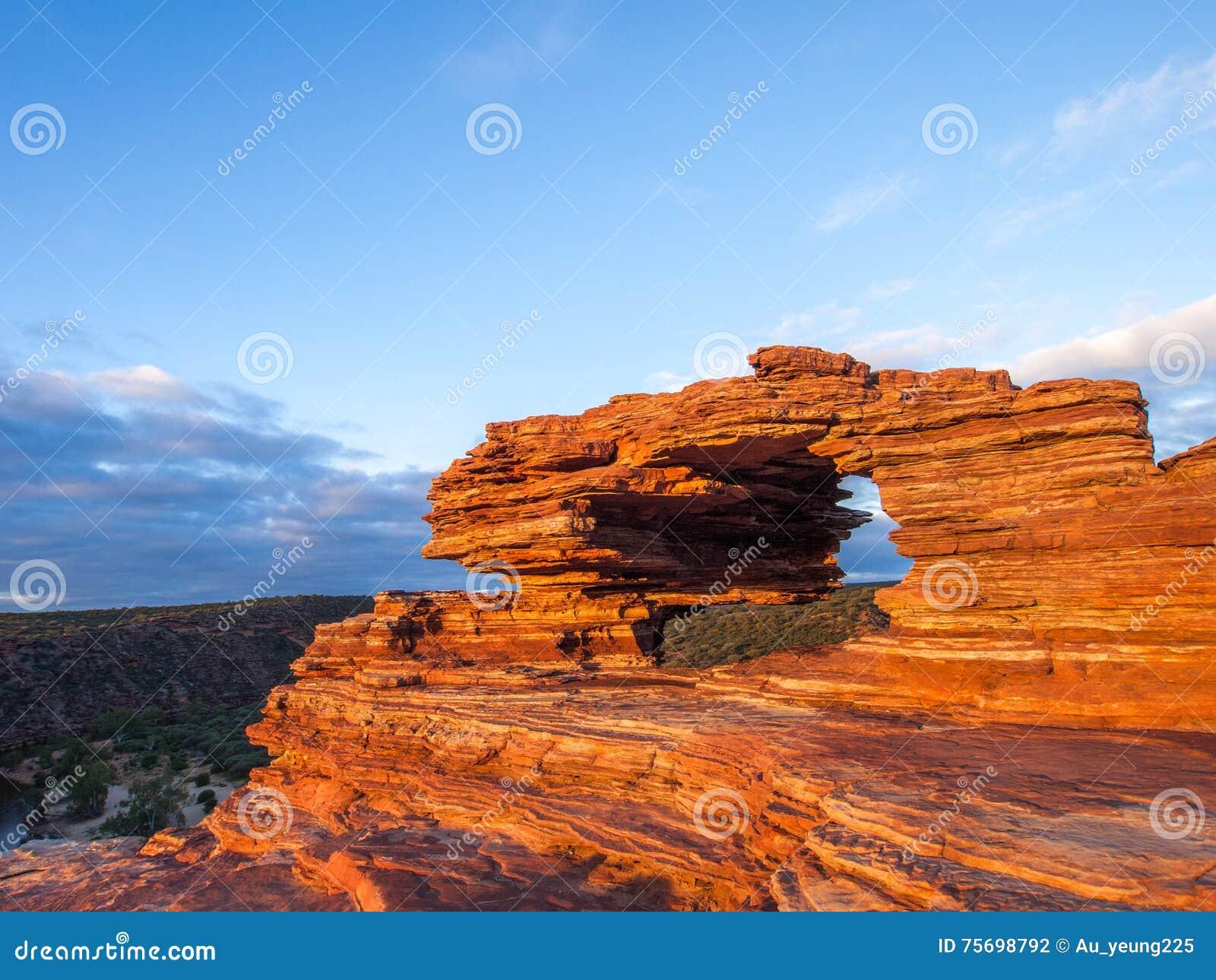Parco nazionale di Kalbarri - finestra Australia delle nature