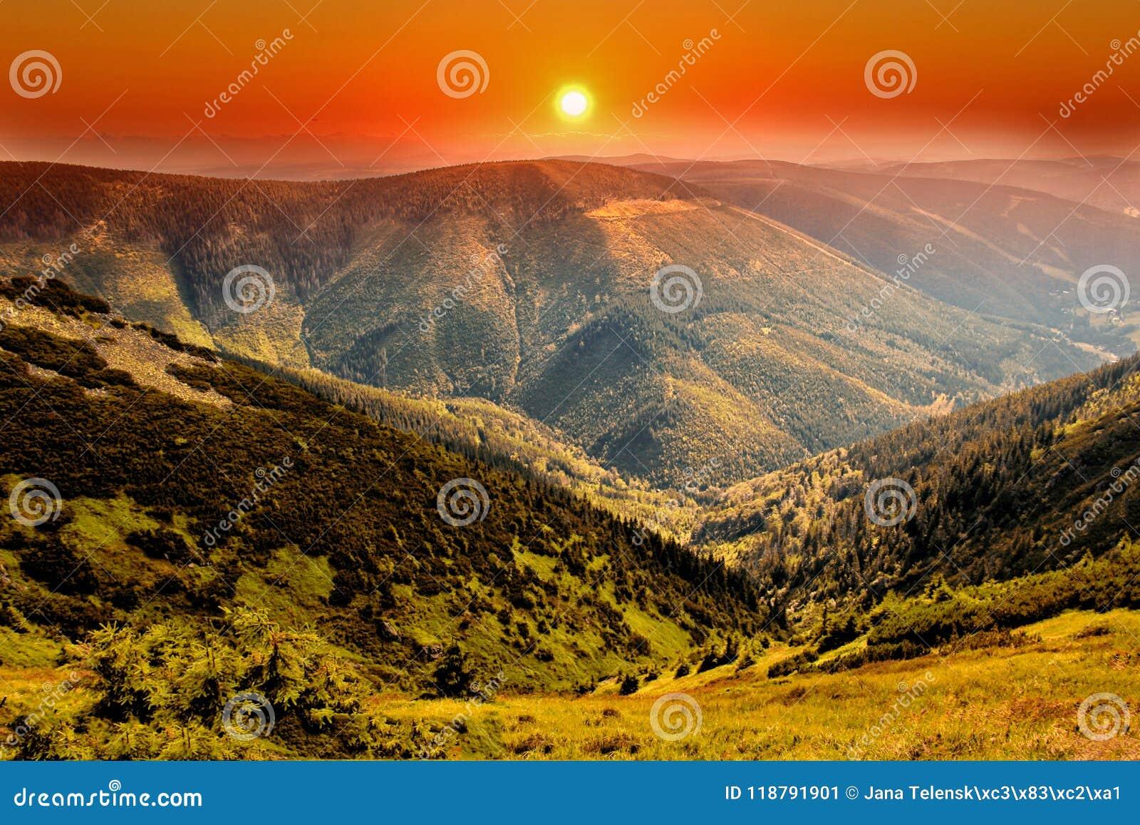 Parco nazionale di Krkonose del hrbety- di Kozi in repubblica Ceca