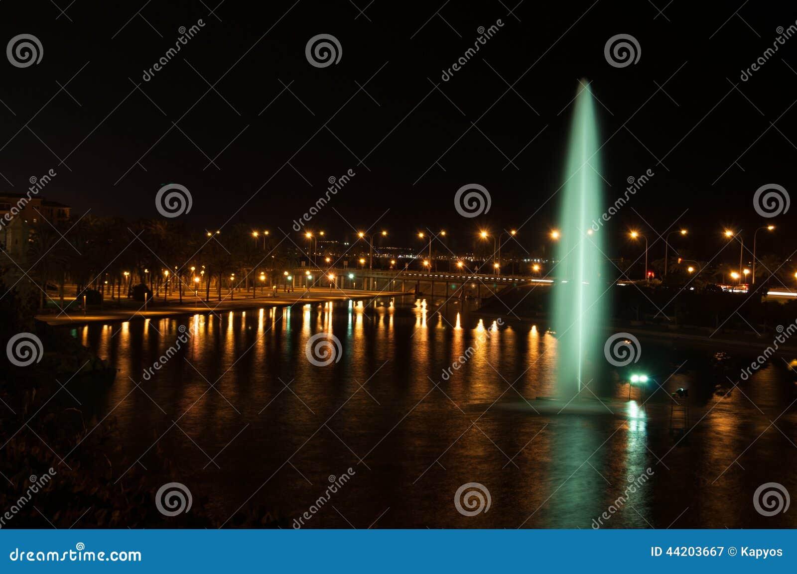 Parco palma de mallorca del mare immagine stock immagine di
