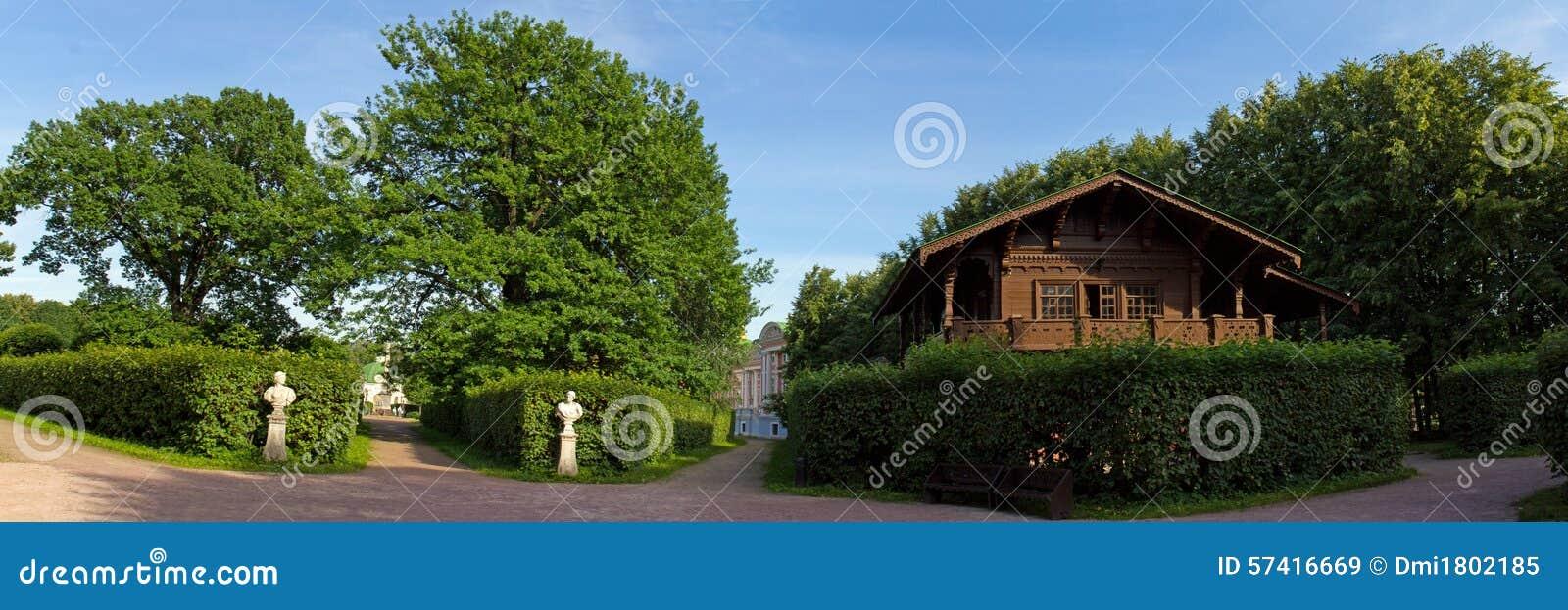 Parcs de Moscou Domaine noble Kuskovo Vues du jardin et de la maison suisse